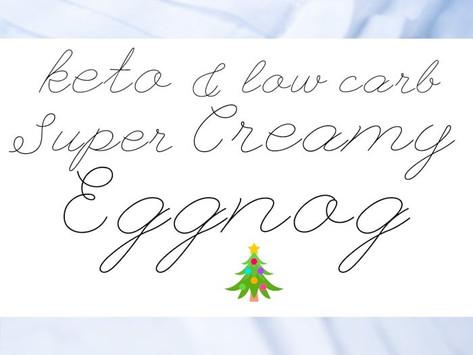 HOMEMADE EGGNOG (Low-carb  Keto Gluten Free)