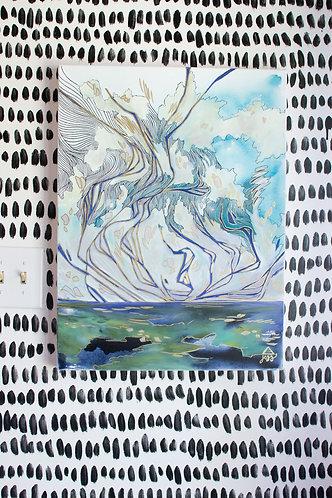 """Nodding Sky"" Original Oil Painting"