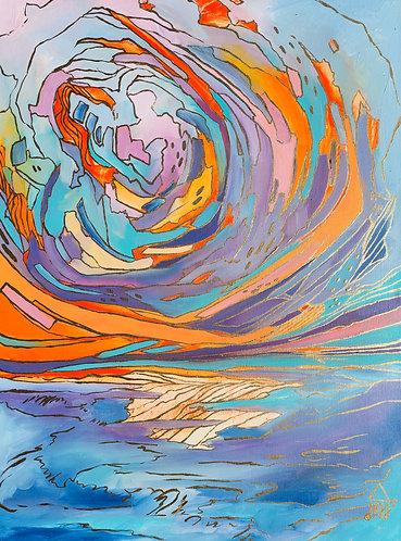 """Morning Glory"" Original Oil Painting"