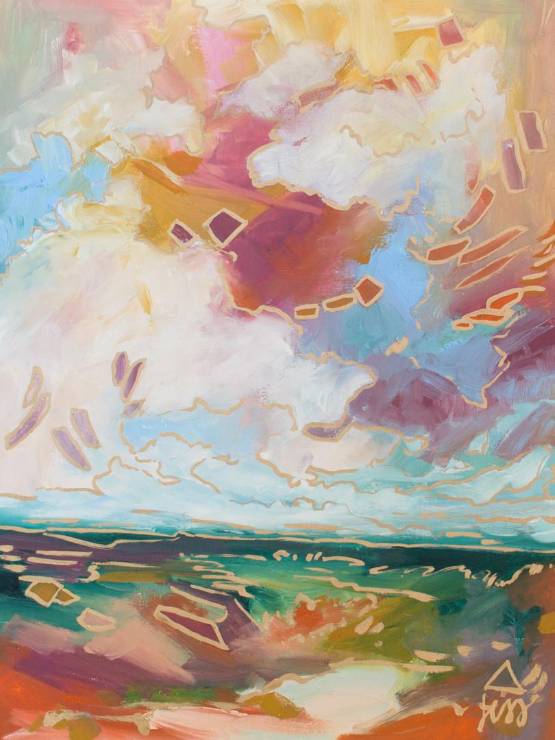 Colorful Oil Landscape