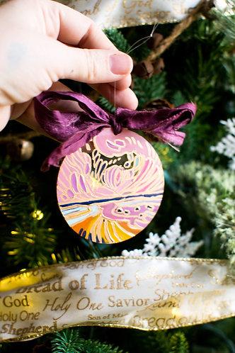 Acrylic Disc Landscape Ornament 8