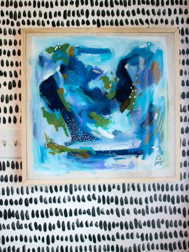 Abstract Oil Painting with Resin Finish