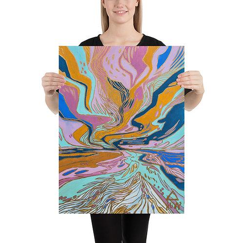 Showing-Off Skies Art Print