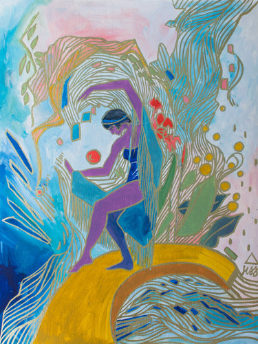 Abstract Figurative Work on Paper