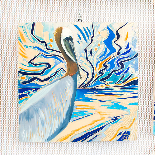 """The Pelican"" Original Oil Painting"