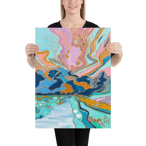 Shepherded Through Mountains Art Print
