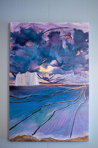 """Larkspur Evening Sky"" Original Oil Painting"