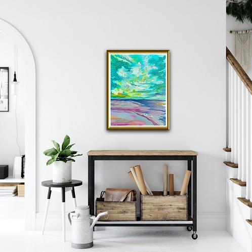 """Emerald Overhead"" Original Oil Painting"