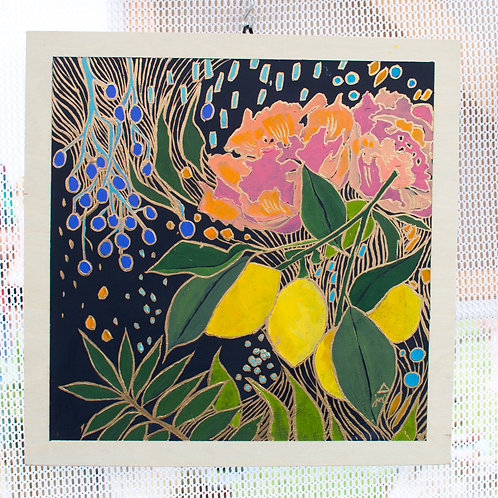 """Grow in the Dark, Bloom in the Light"" Original Oil Painting"