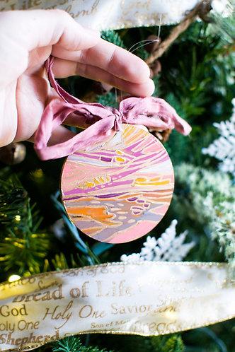 Acrylic Disc Landscape Ornament 5