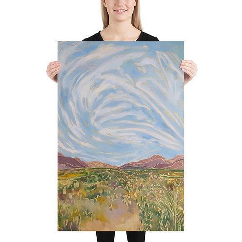 Buttercream Clouds Art Print