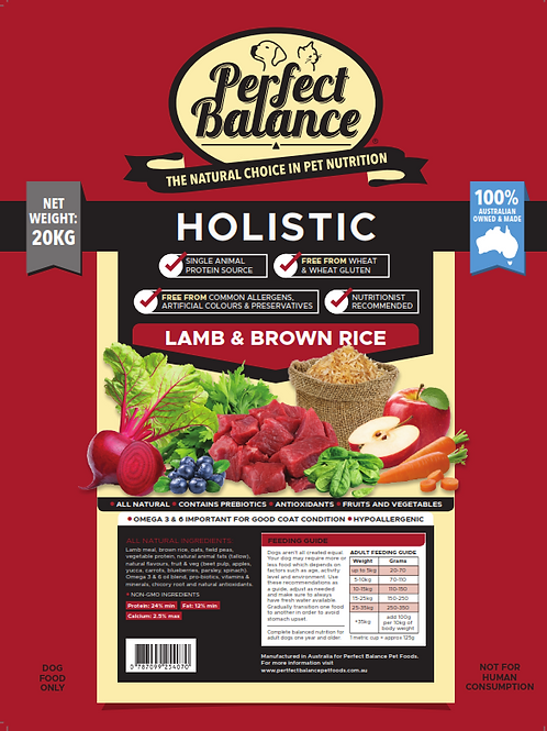 Perfect Balance Lamb & Brown Rice 2.5KG