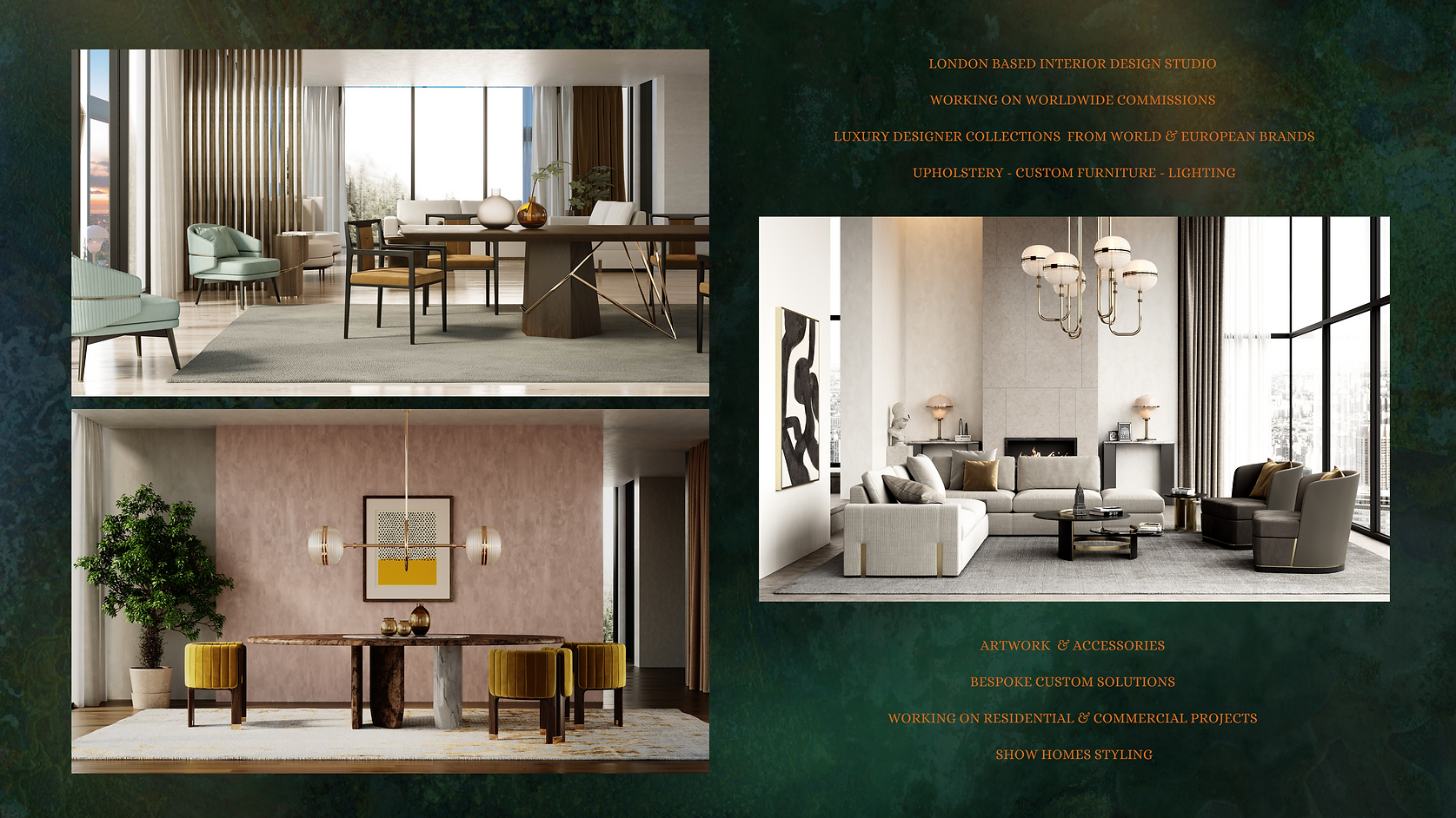 LUXURY INTERIORS WORLDWIDE COMMISSIONS (