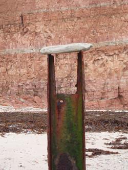 Säulendeckel weiß rot