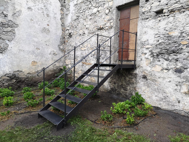Schwarzblech Treppe