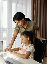 Governess working in a private household