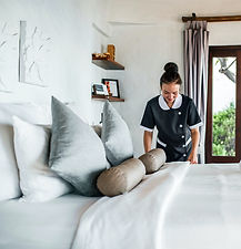 Housekeeper working in a private household