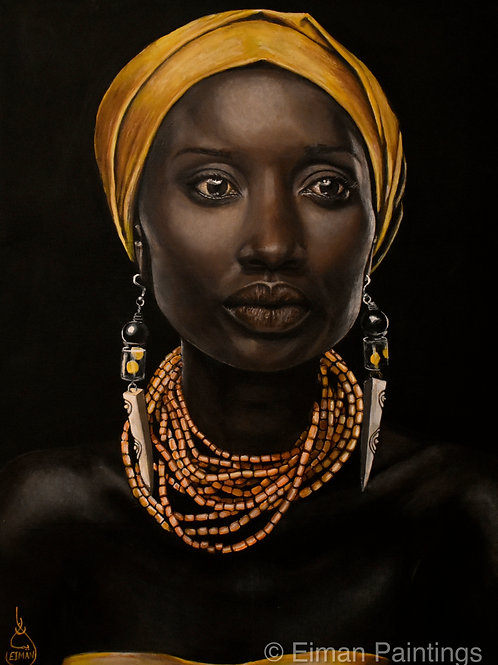 AFRICAN ROYALTY EMBELLISHED GICLEE PRINT