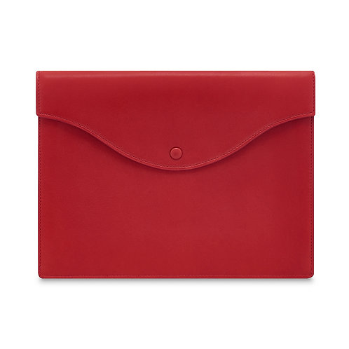 RED LEATHER TECH POUCH