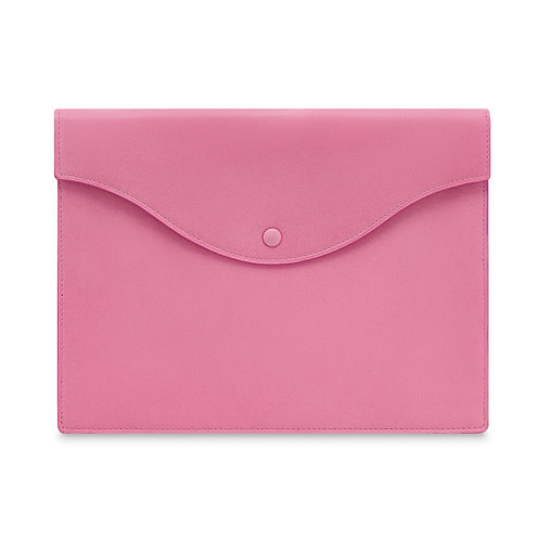 PINK LEATHER TECH POUCH