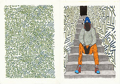 Design de mode - Sweatshirt Labyrinthe.j