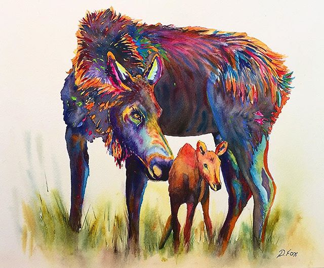 "Mum's Love 12""x16"" watercolor by Deborah"