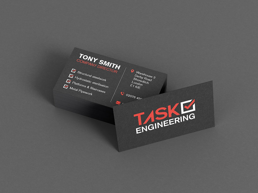Task Engineering - Business card back 2