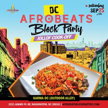 DC Afrobeats Block Party & Jollof Cookoff