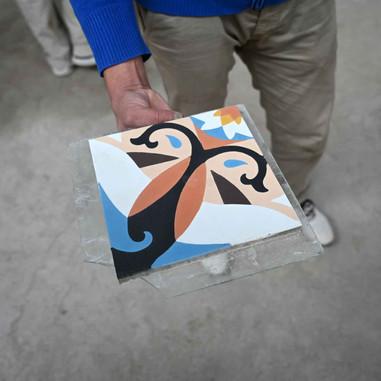Art cement tiles