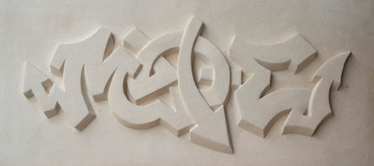 MADE graffiti carving