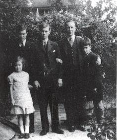 JRR Tolkien and his children