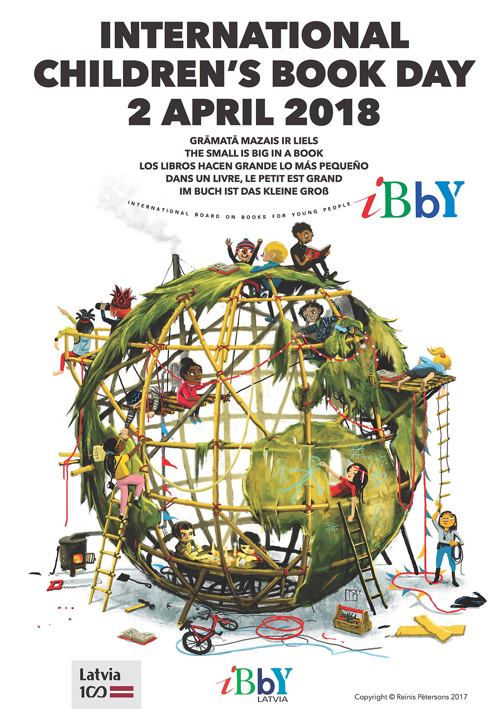 International Children's Book Day Poster 2018 created by Reinis Pētersons