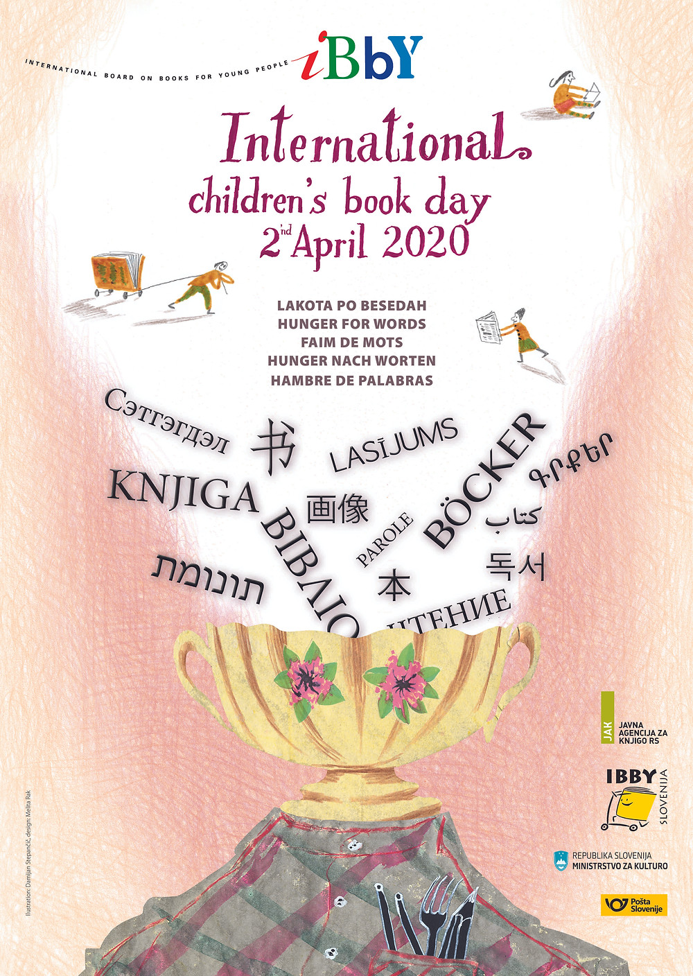 International Children's Book Day Poster 2020 created by Damijan Stepančič