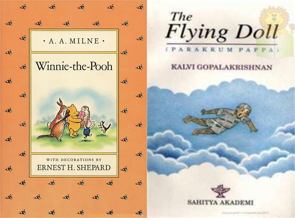 Winnie the Pooh by A. A. Milne, The Flying Doll by Kalvi Gopalakrishnan,