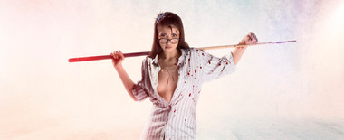 Girls In Undies Vs Zombies // Pool Cue Hugh // SFX M-UP: Bill Turpin // Photos: Jesse Seaward