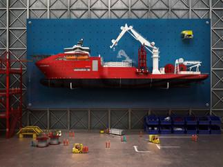 EMAS // Toolrack Ship // Los & Co // CGI Simon Allan at Giant Bonsai