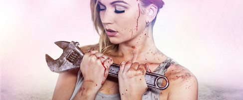 Girls In Undies Vs Zombies // Wrench Robby // SFX M-UP: Bill Turpin // Photos: Jesse Seaward