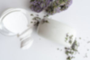 Bare bar with flower sprinkles and cryst