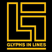 Glyphs in lines company logo