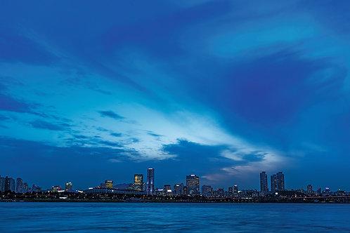 View from Ttukseom Han River Park, Seoul