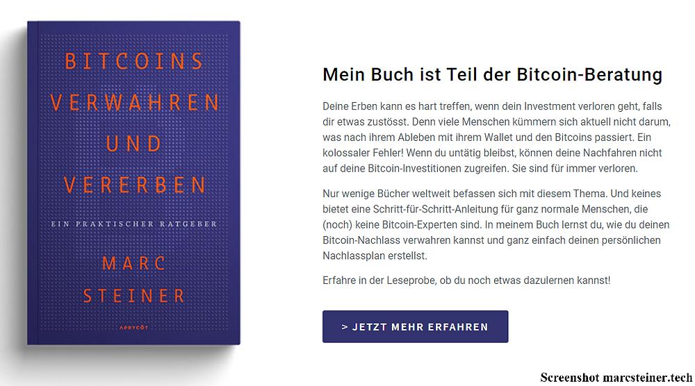 Bitcoin Buch erbe verwahrung sicherheit