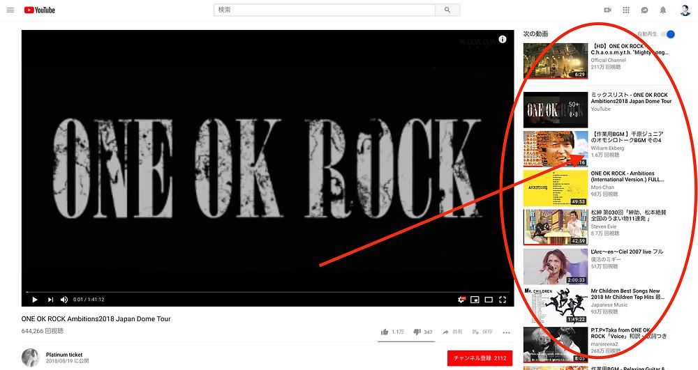 YouTube オススメ機能