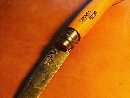 【アウトドア】OPINEL(オピネル)のナイフがいきなり錆びました…