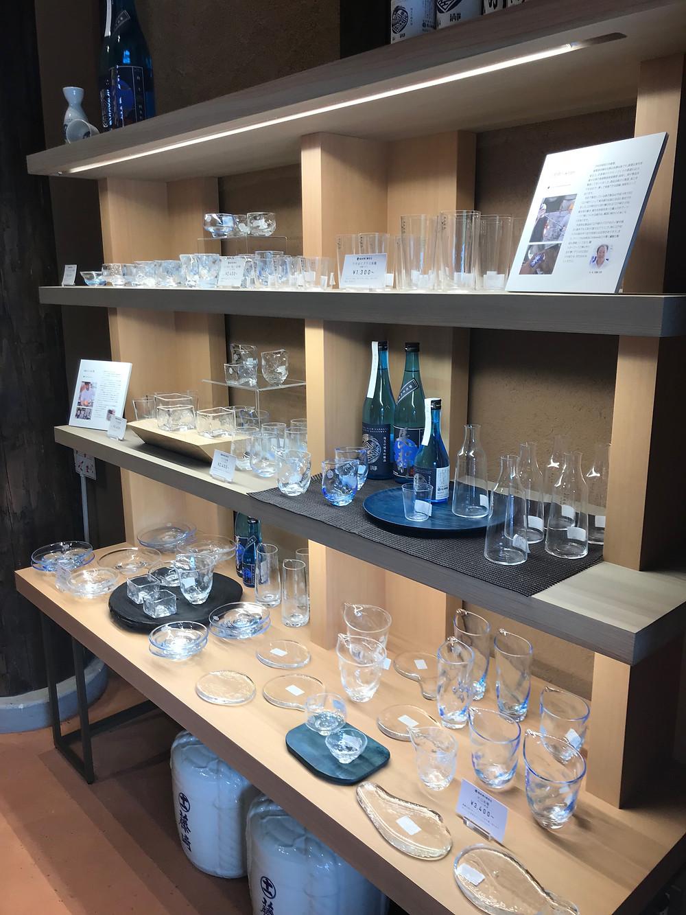 長瀞蔵 日本酒 ガラス工芸品