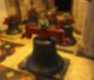 Bells decorated with flowers