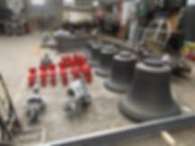 Bells blackened and headstocks painted