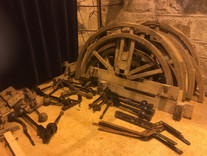 Dismantled bell parts