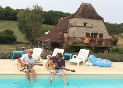 Paul and Rupert rehearsing
