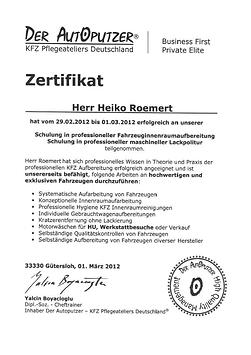 Zertifikat Aufbereiter