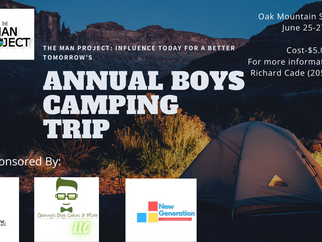 All male mentoring camping trip